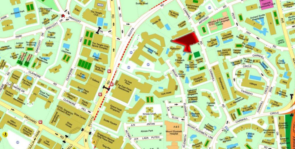 klimt-cairnhill-location-map-orchard-road-singapore