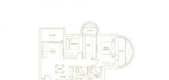 Klimt-Cairnhill-Floor-Plan-2-bedroom+1-elegant-b3-singapore