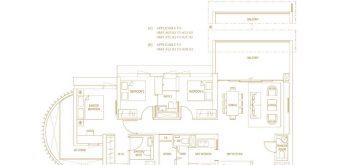 Klimt-Cairnhill-Floor-Plan-3-bedroom-premium-c2-singapore
