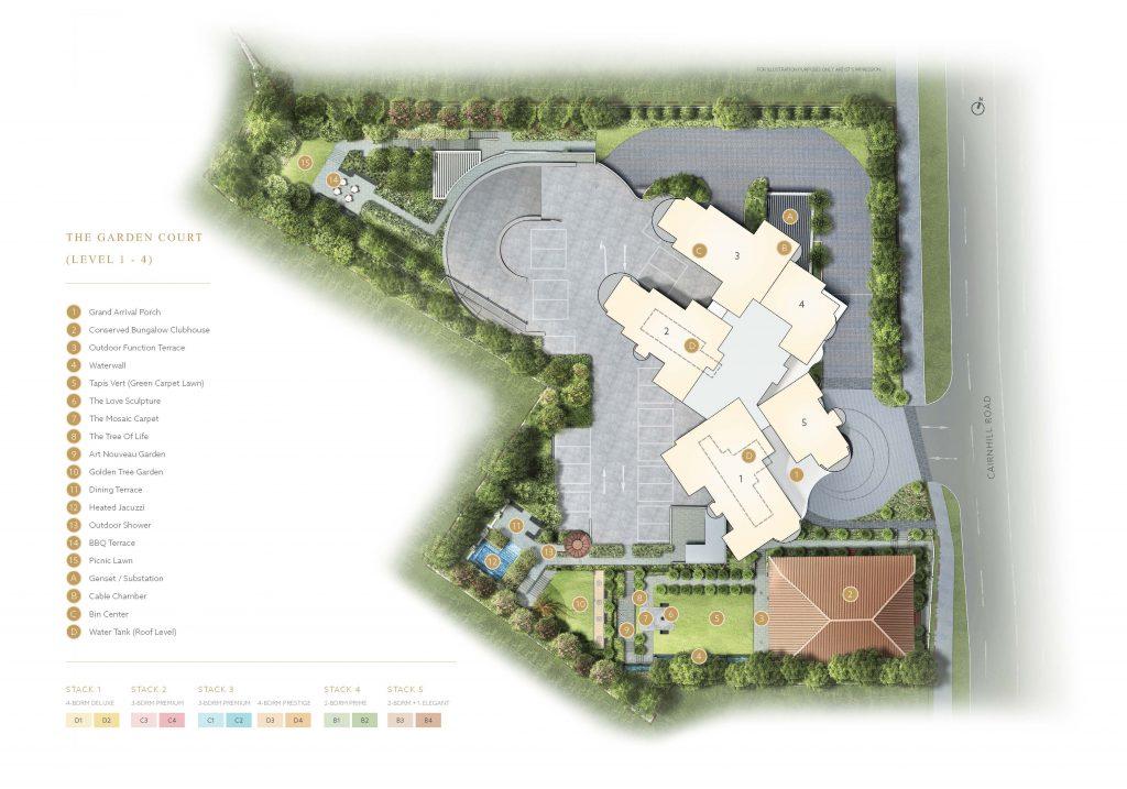 klimt-cairnhill-Site-Plan-former-cairnhill-mansions-singapore